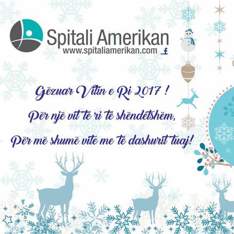 Spitali Amerikan ju uron gëzuar Vitin e Ri 2017
